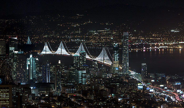 Bay Lights, San Francisco – Oakland Bay Bridge